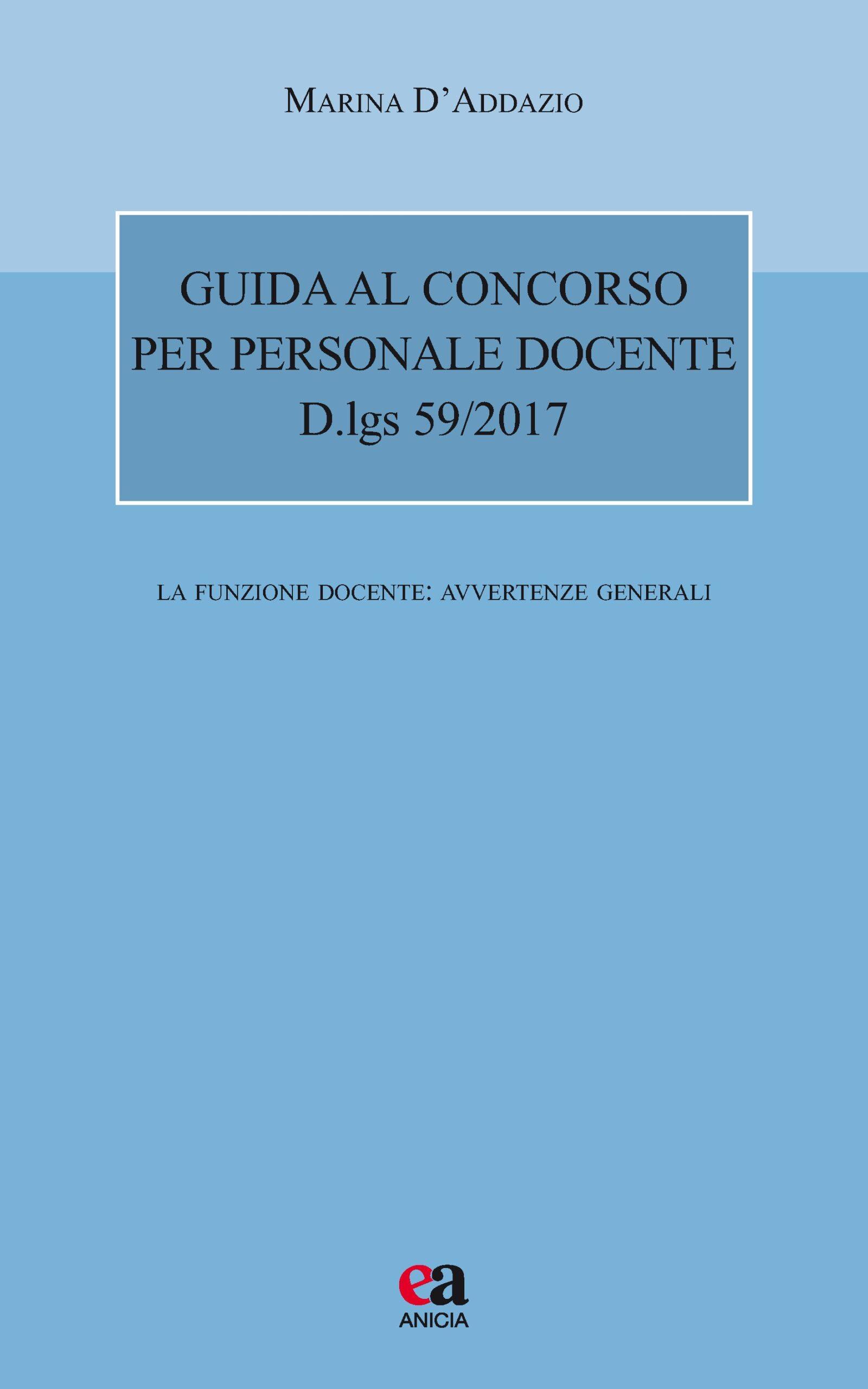 Guida al concorso per personale docente - D.lgs 59/2017